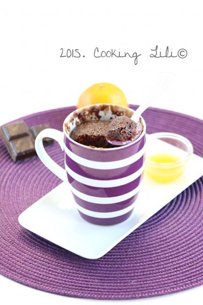 mug cake chocolat clementine