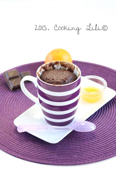 mug cake clementine choco