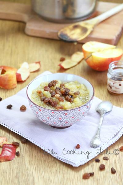 Compote de pommes  sirop d'érable