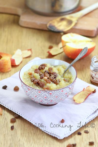 compote de pommes et sirop d'érable
