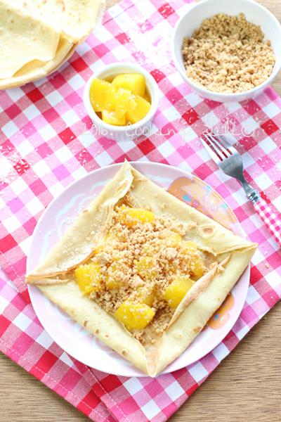 crêpes noix de coco mangue