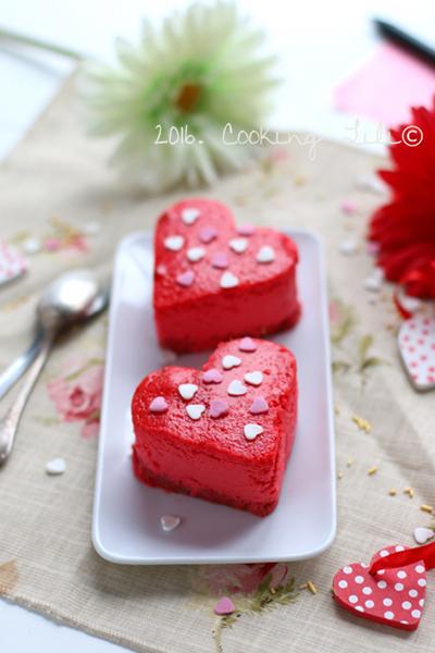 cheesecake coeur pour saint valentin