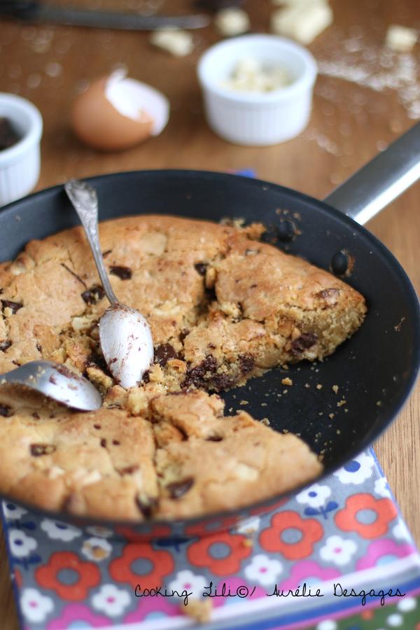 one pan cookie aux double pépites