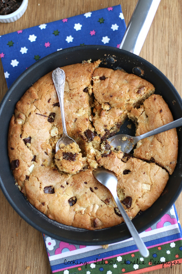 one pan cookie aux doubles pépites de chocolat