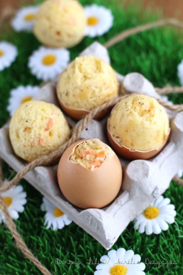 egg cake au saumon fumé