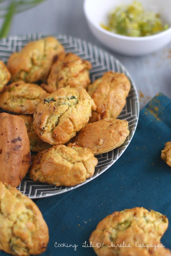 madeleines poireau curry