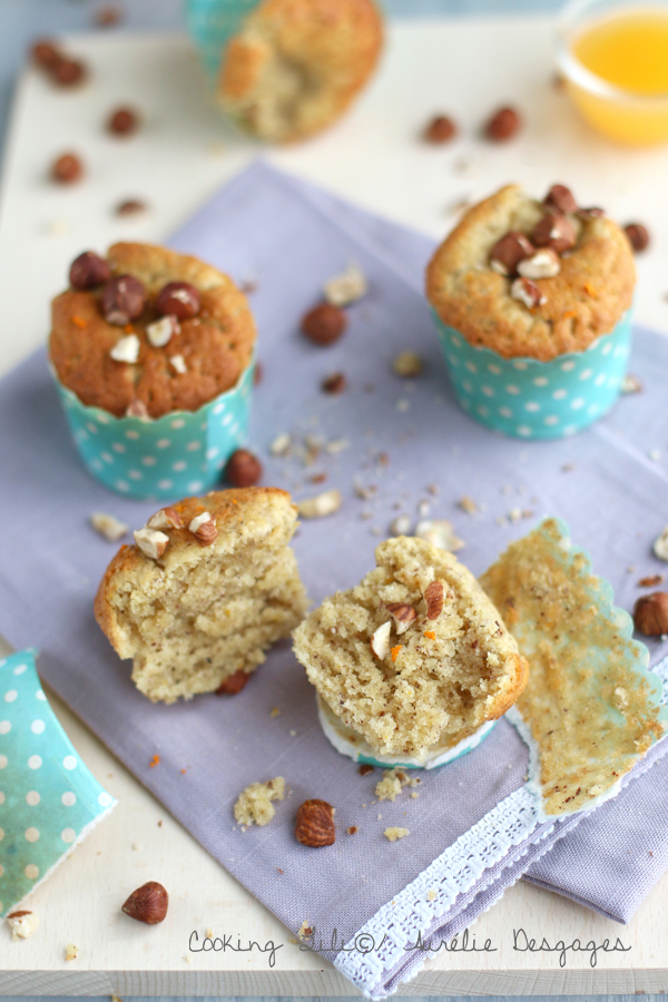 muffins orange noisettes