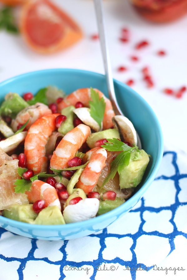 salade crevettes grenade pamplemousse 2