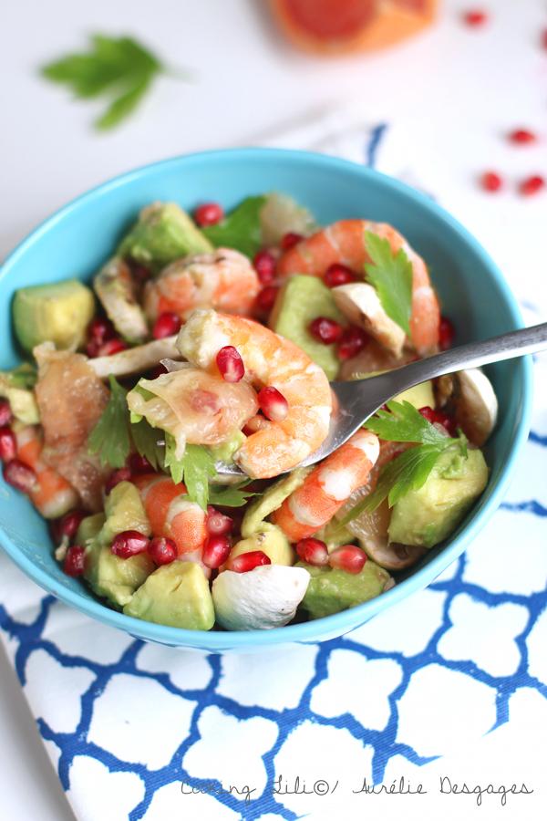 salade crevettes pamplemousse et grenade2