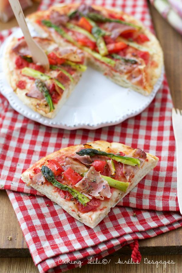 pizza asperges jambon cru