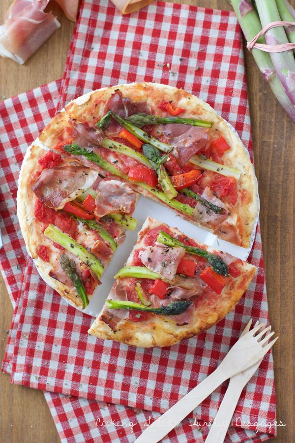 pizza jambon cru et asperges