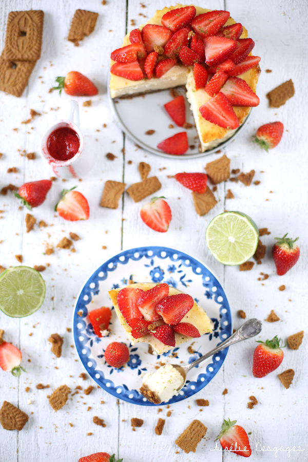 cheesecake fraises citron vert et speculoos
