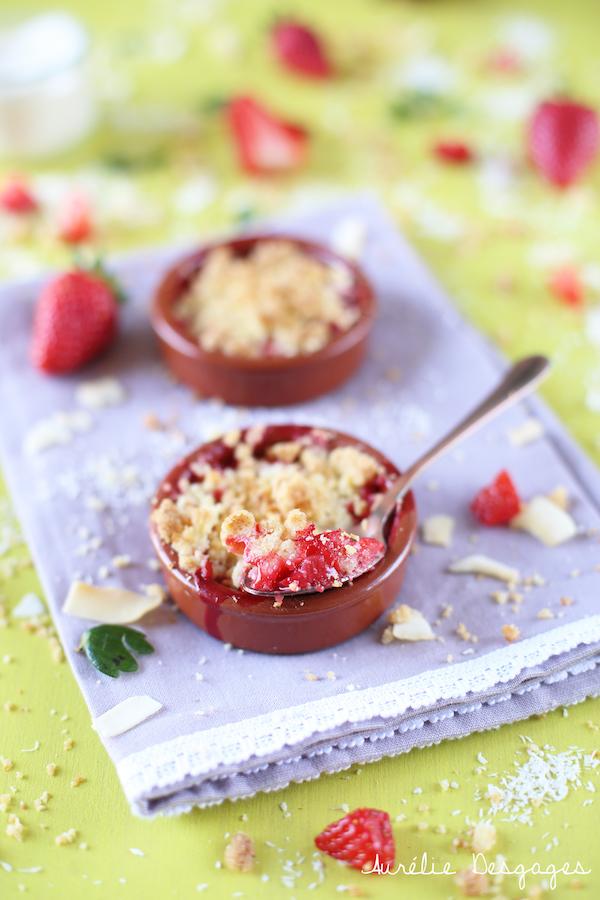 crumble fraises et coco
