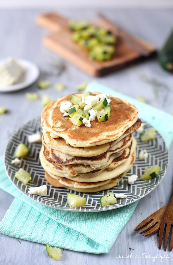pancakes chèvre courgettess