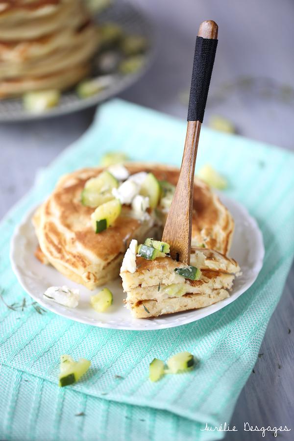 pancakes courgettes chèvre4