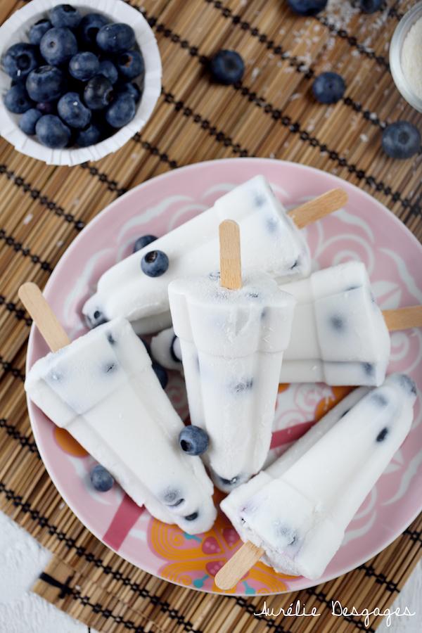 popsicle lait de coco myrtilles