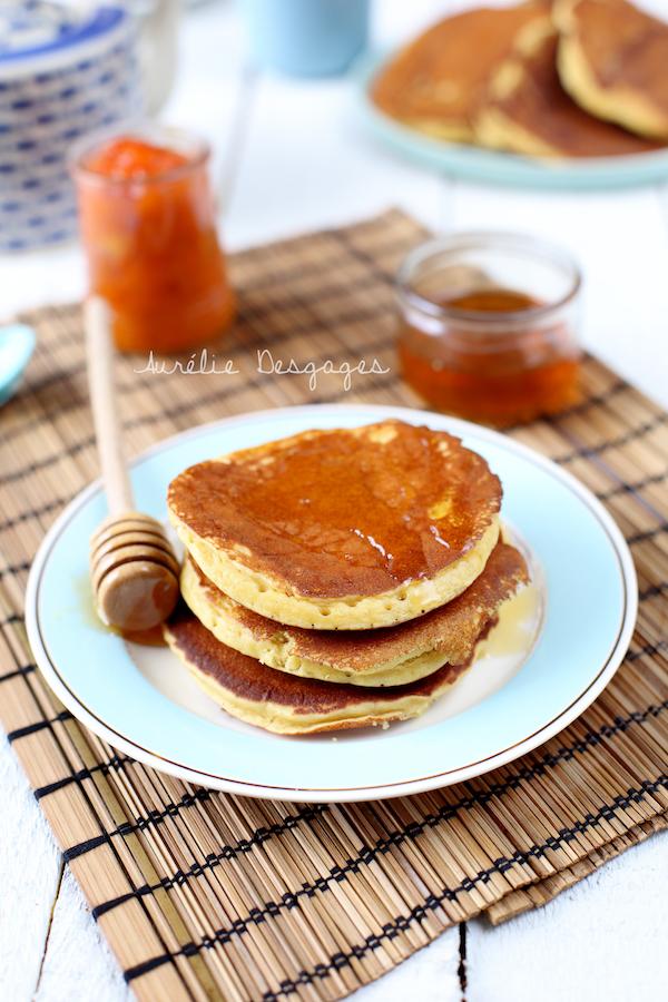 pancakes farine de pois chiche