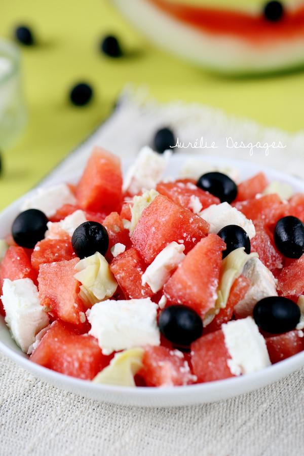 salade de pastèque feta artichauts2