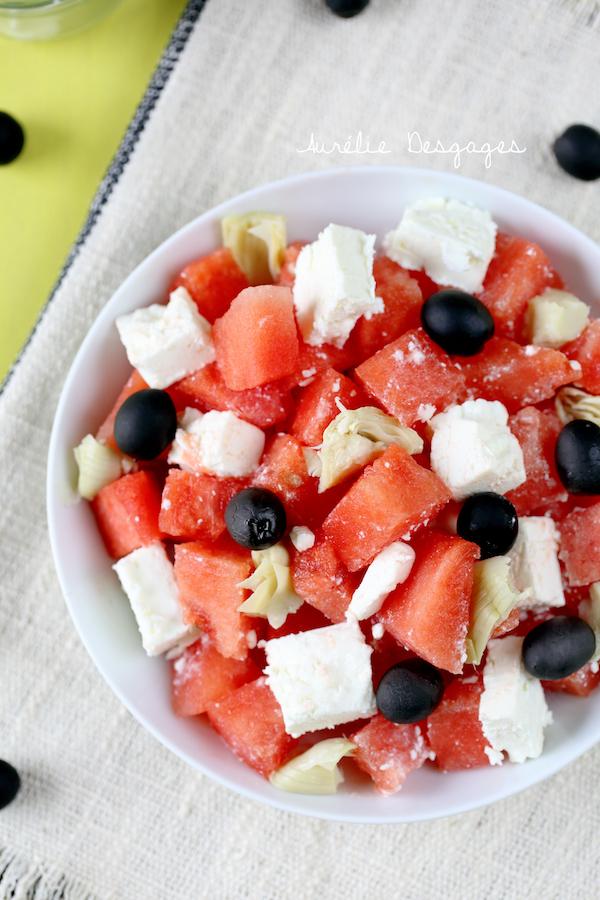 salade de pastèque feta artichauts5