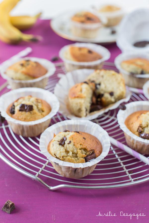 muffins banane choco1