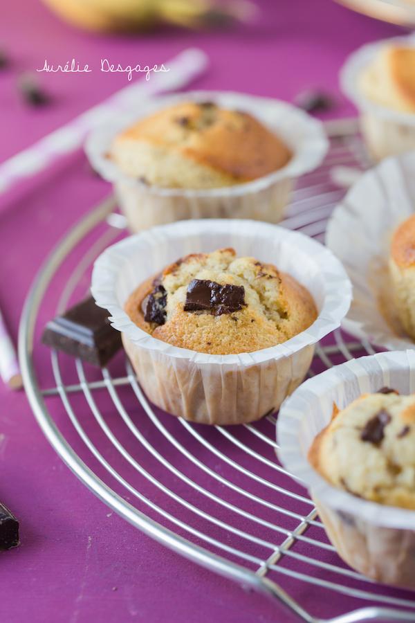 muffins bananes choco