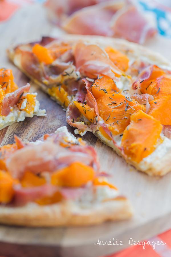 tarte feuilletée potimarron jambon chèvre2
