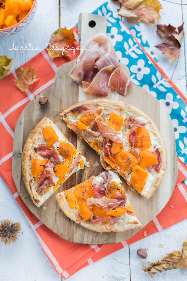 tarte feuilletée potimarron jambon chèvre3