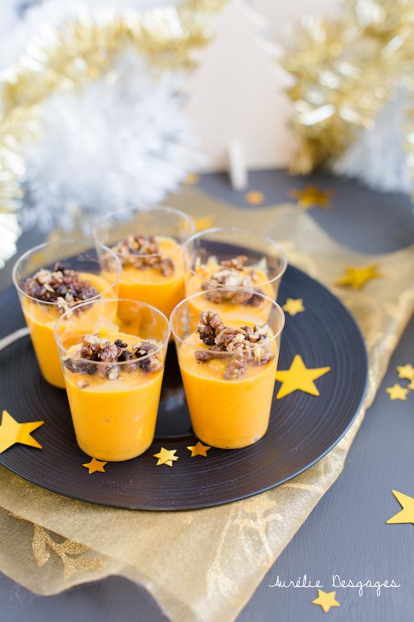 crème de potiron chevre noix