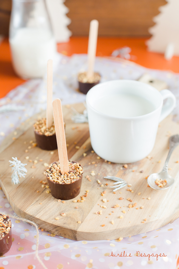 sucette au chocolat à fondre